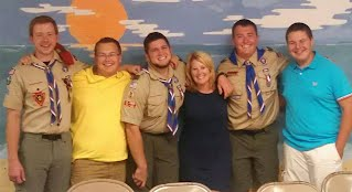 So proud of Matt becoming an Eagle Scout that's 4 out of 5 so far.